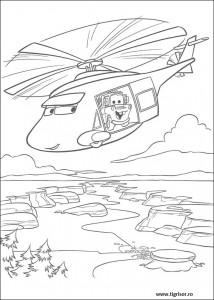 Plansa De Colorat Cu Mater In Elicopter Tigrisorro