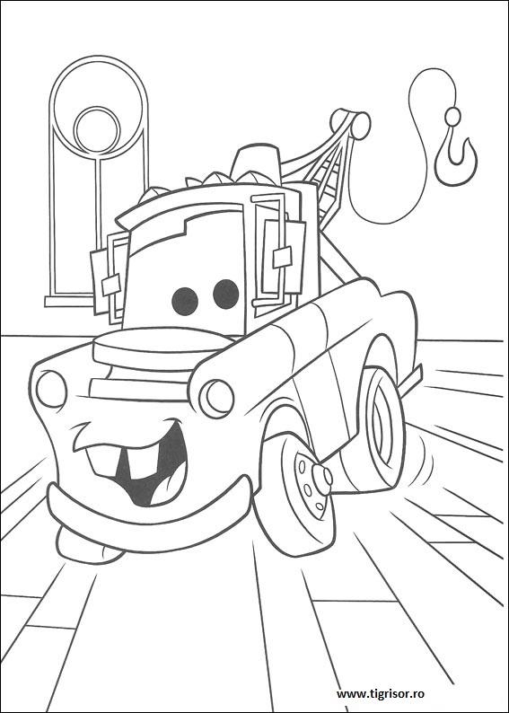 Plansa De Colorat Cu Bucsa Fericit Din Cars Tigrisorro