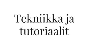tutoriaalit