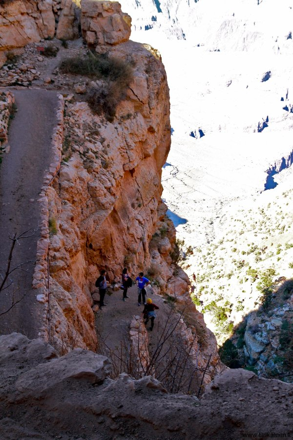 On Kaibab Trail in Grand Canyon