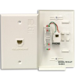 the 761t series flush mount indoor phone jack plate is designed to provide convenient rj11 connectivity with idc termination in the back and utilizes tii s  [ 1200 x 1200 Pixel ]