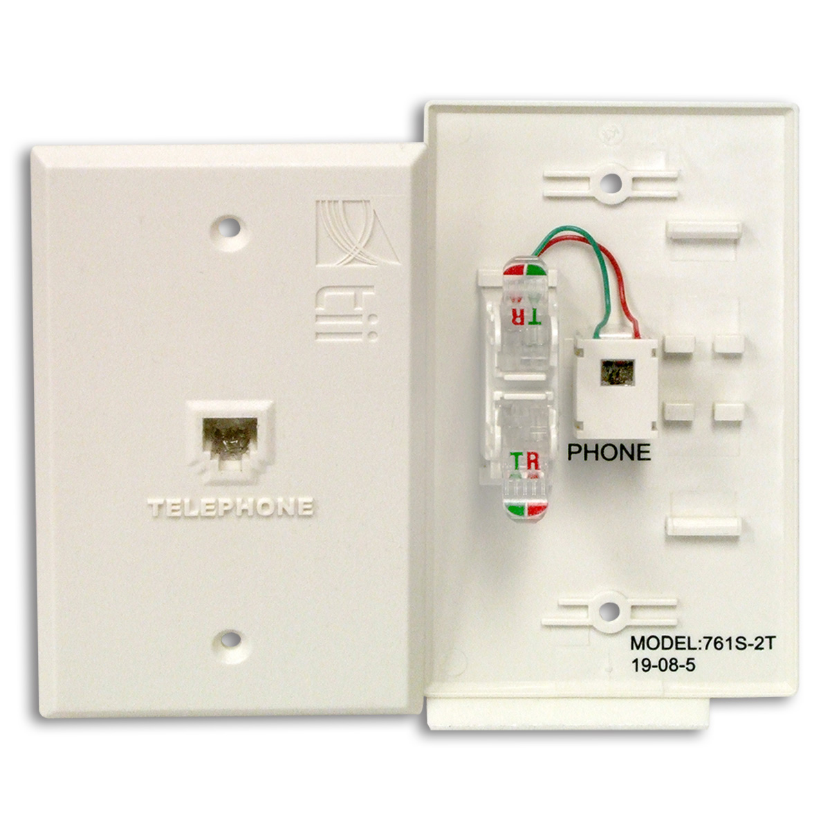 hight resolution of 761t series flush mount indoor phone jack plate
