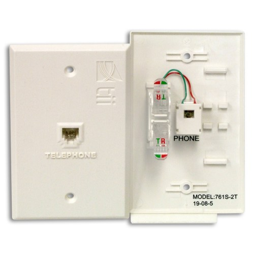 small resolution of 761t series flush mount indoor phone jack plate