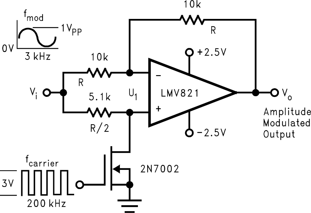 medium resolution of 8 2 2 simple mixer amplitude modulator