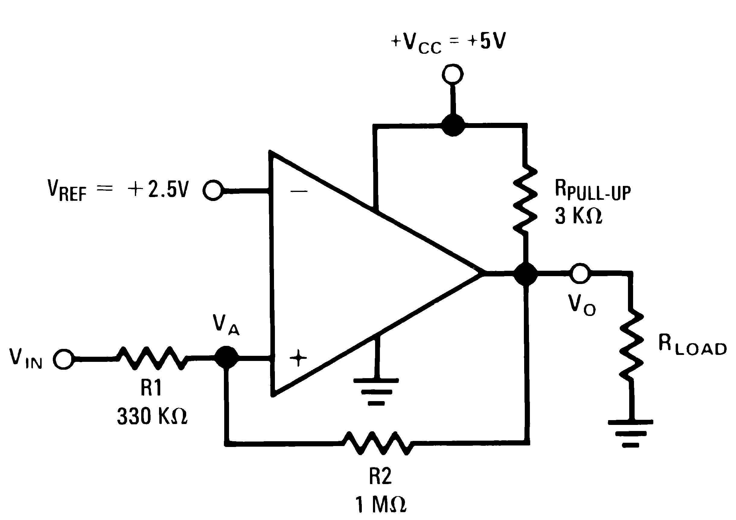 Noninverting Comparator With Hysteresis Circuit Diagram Tradeofic