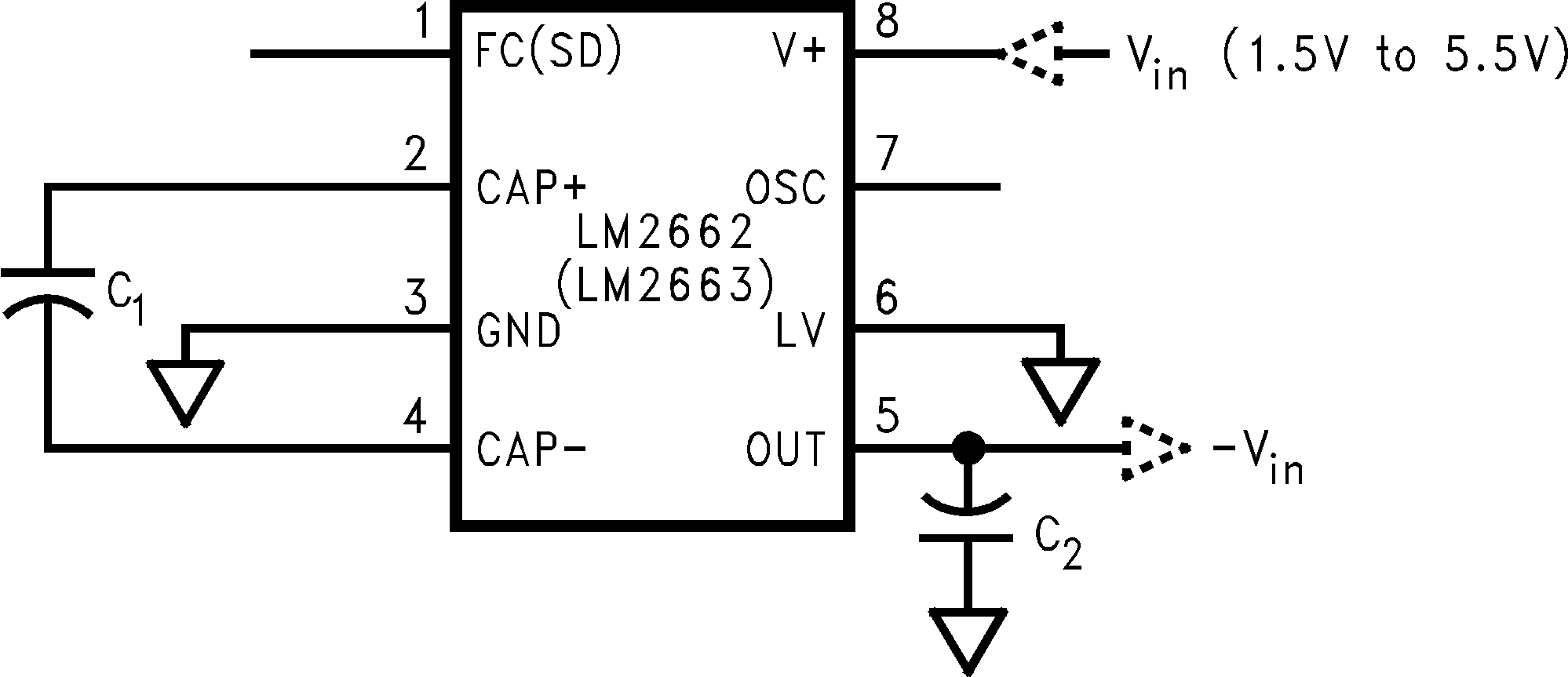 Lm Switched Capacitor Voltage Converter