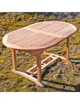 table de jardin ovale en teck massif 160 capri