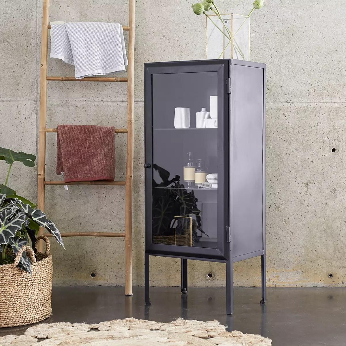 armoire de salle de bain vitree en metal 120 lison