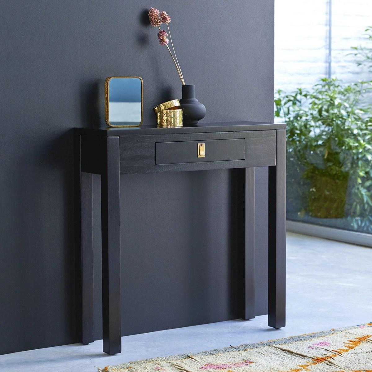 console en bois de java 80 cm meubles de rangement sejour