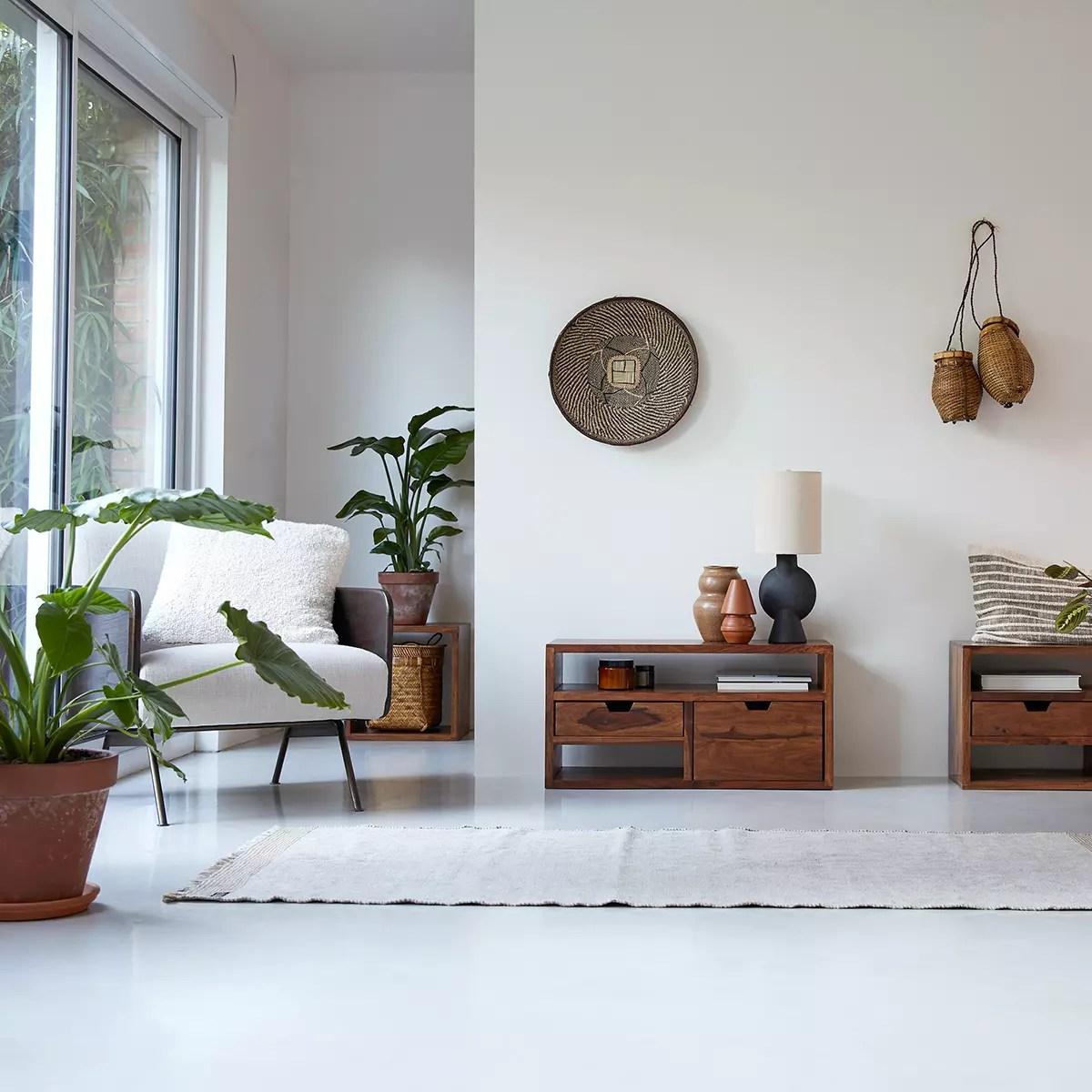 meuble tv en palissandre massif kwarto 85 cm