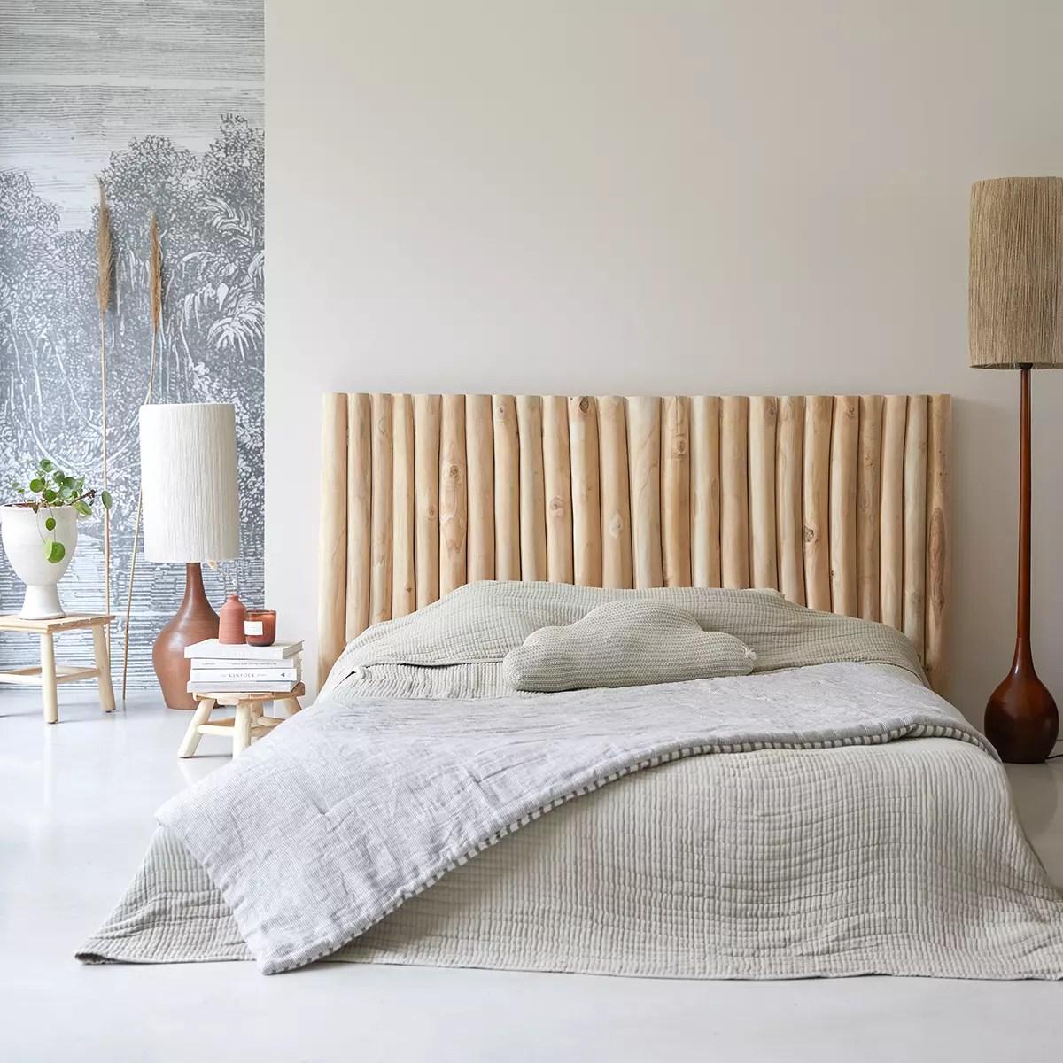 tete de lit en bois flotte 180 cm river