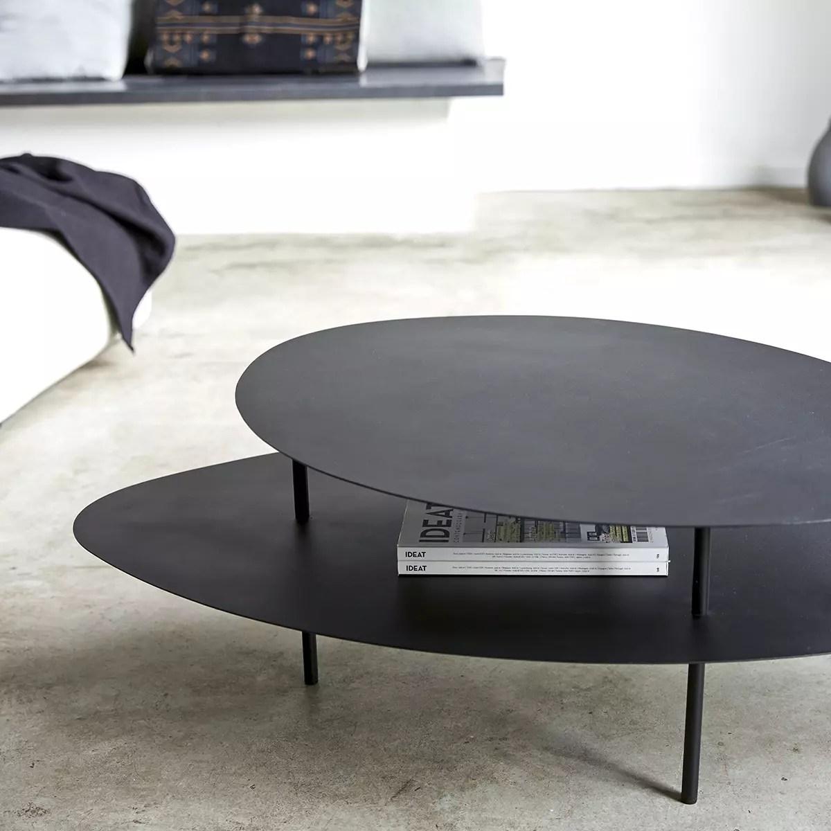 table basse en metal 120x70 judit