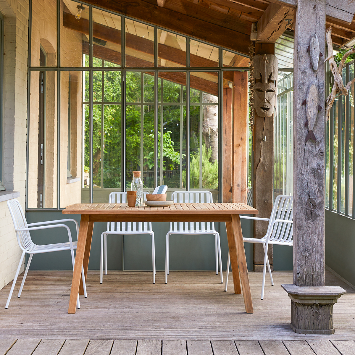 table de jardin en teck massif 140 pamoa