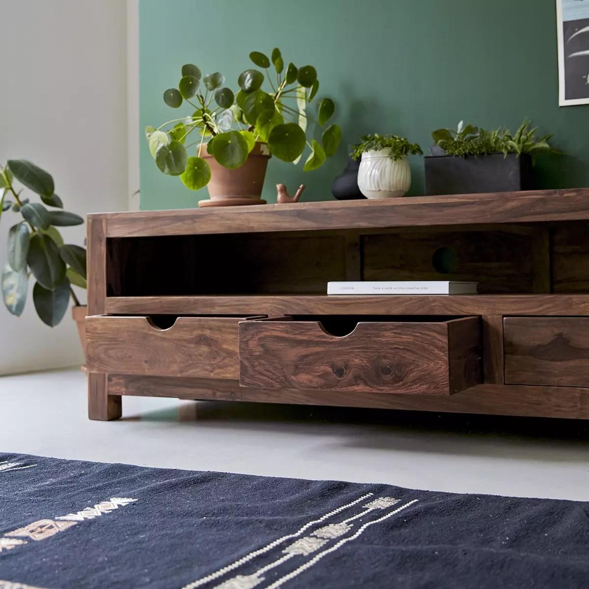 tv schrank aus massivem palisanderholz oliver 200 cm