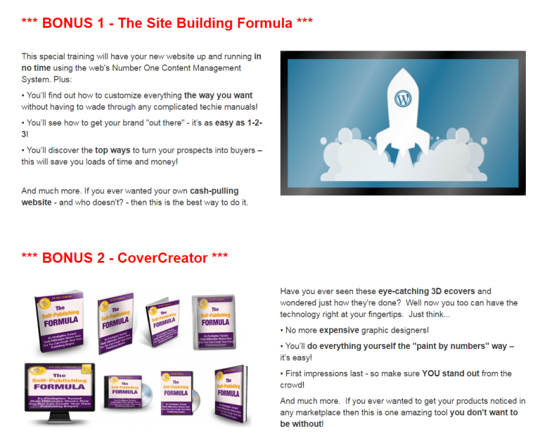 The Self-Publishing Formula review bonus