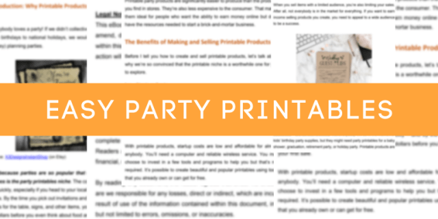 Easy-Party-Printables