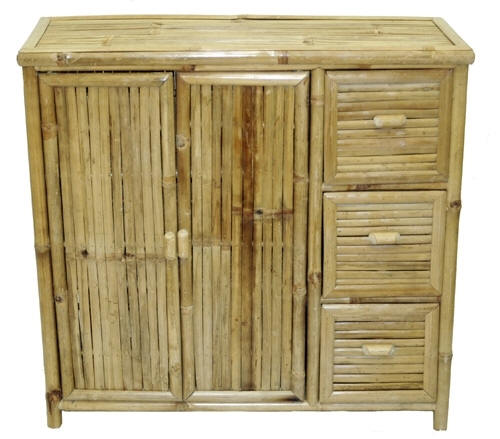 Bamboo Storage Unit with Drawers