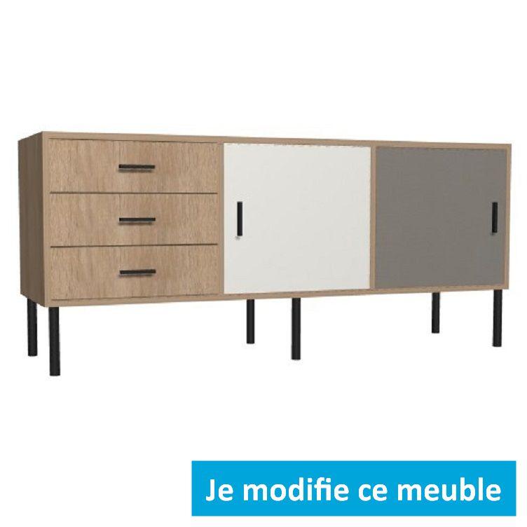 commode sur mesure en bois design avec