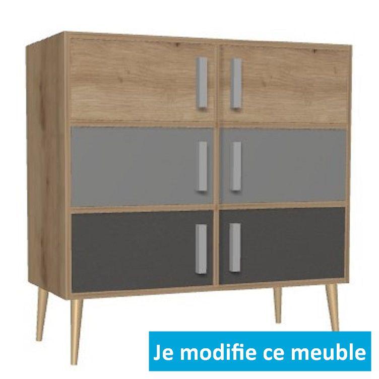 meuble bas sur mesure en bois massif