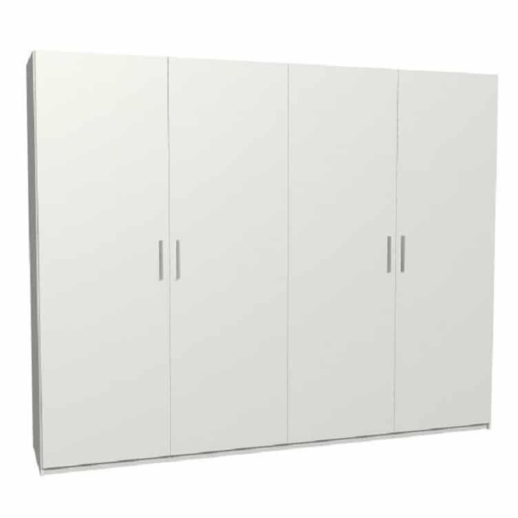 armoire dressing sur mesure en melamine blanc