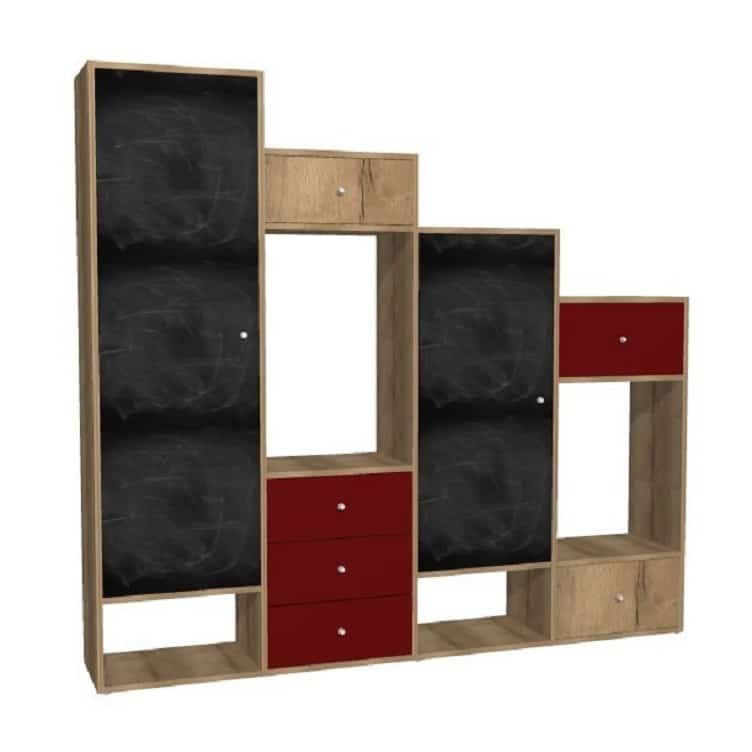 meuble de rangement escalier facade tableau noir