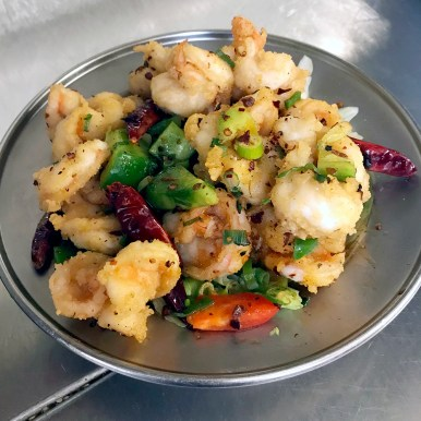 Cantonese-style Salt-n-Pepper Shrimp and Chilis