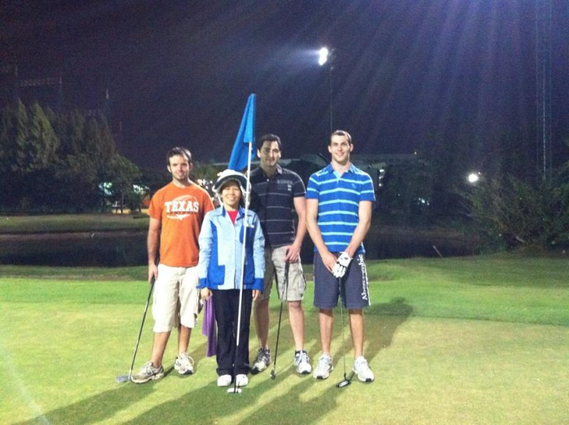 Night Golf In Chiang Mai At Stardome Golf Club