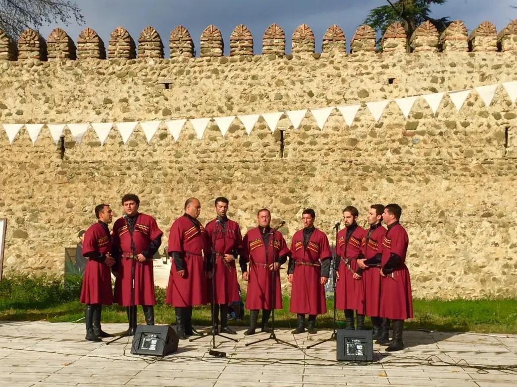 The local choir, such deep voices!