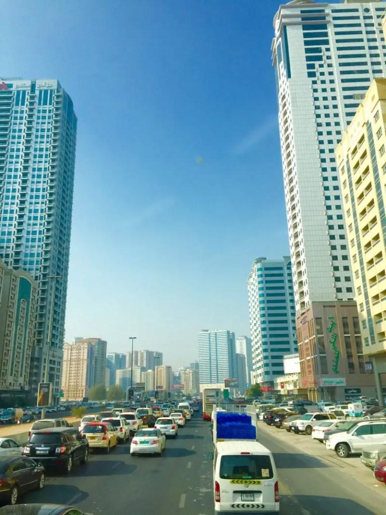 Dubai traffic, not fun!