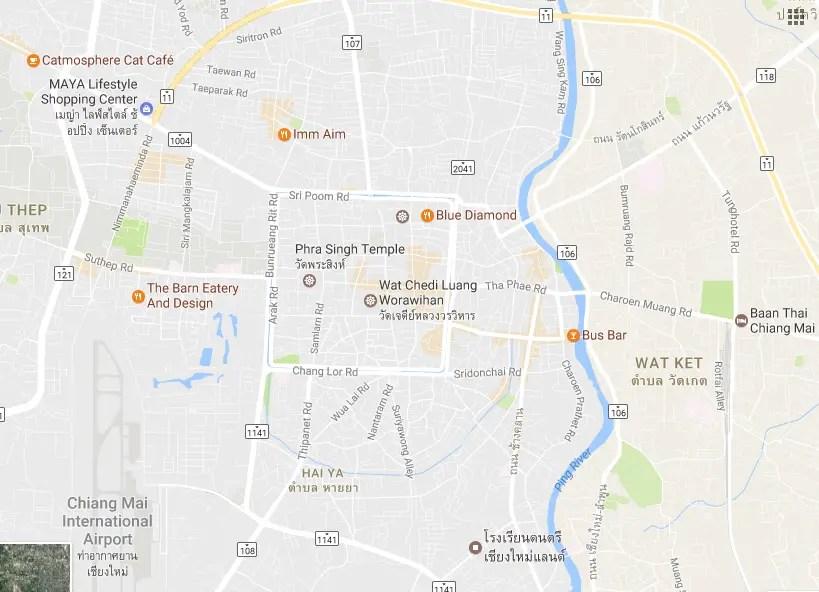 chiang mai map screenshot