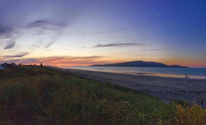 kapiti island sunset