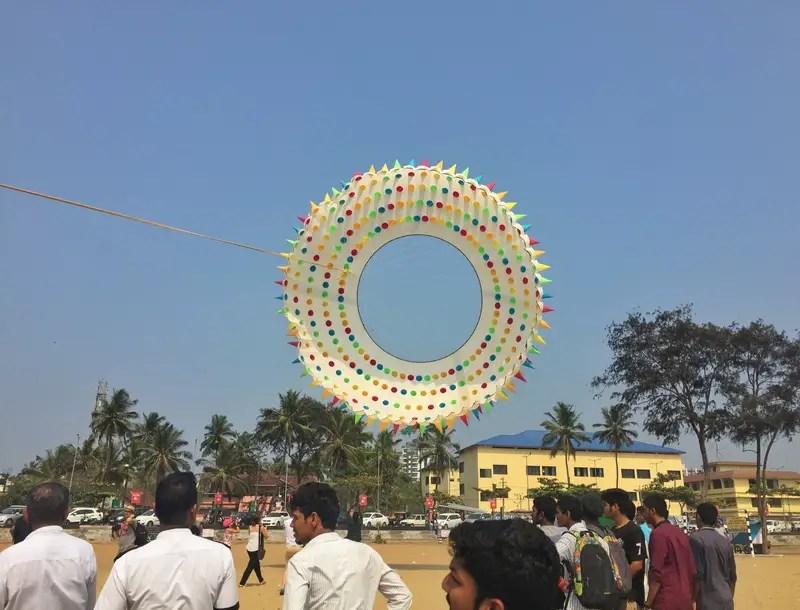 big kite flying in kerala