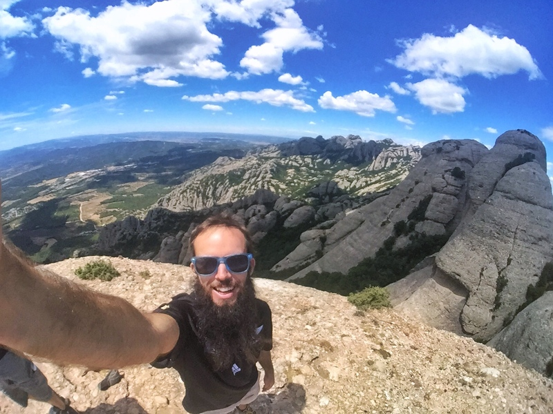 fisheye selfie at montserrat