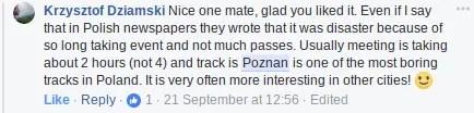 speedway in poznan facebook