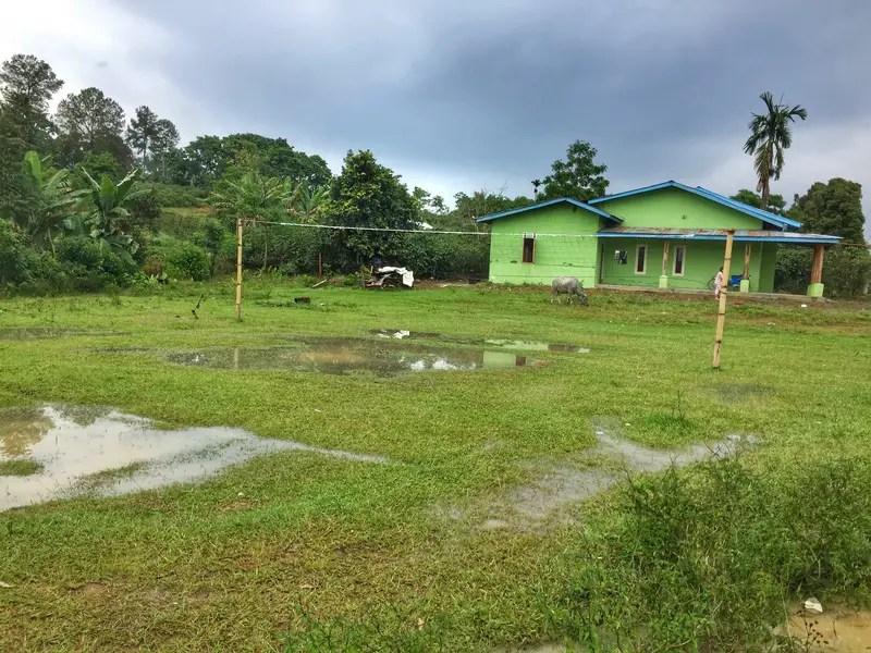 volleyball court samosir island