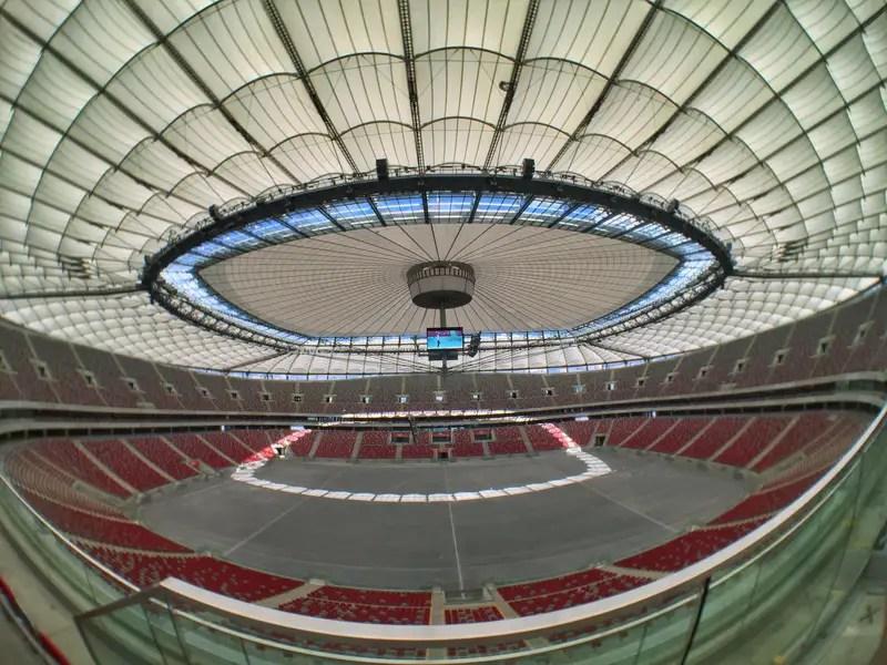 fish eye view of a stadium
