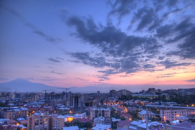 yerevan sunset