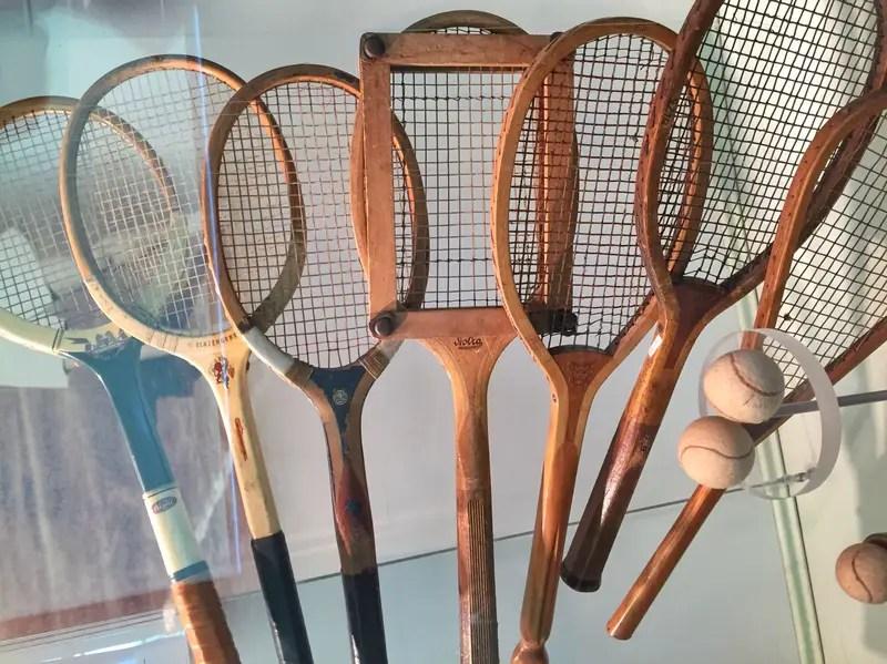 historic tennis rackets