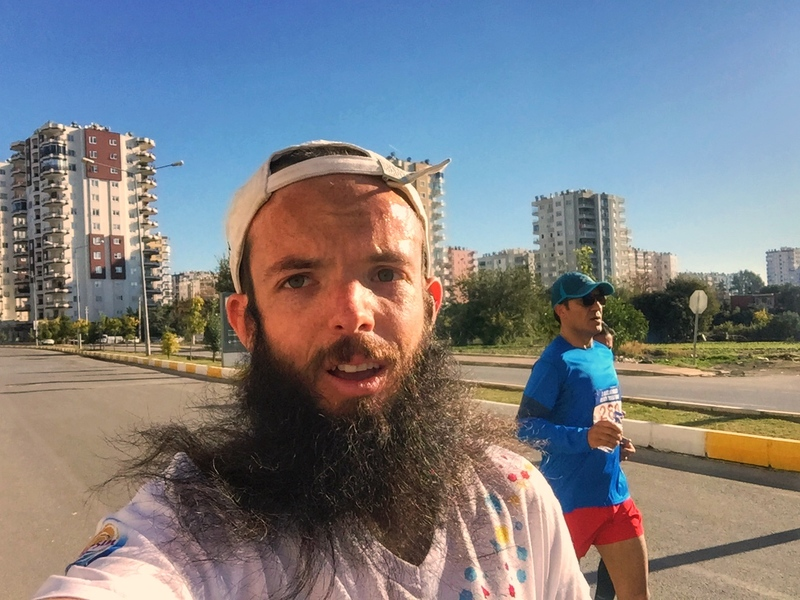 marathon selfie