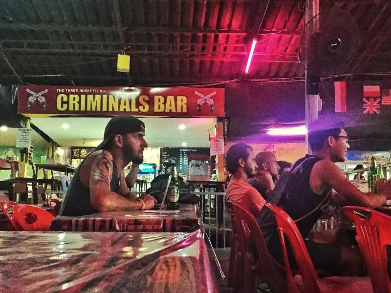 criminals bar at thaepae boxing stadium