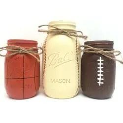 sports mason jars