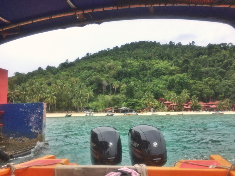 leaving perhentian kecil on boat