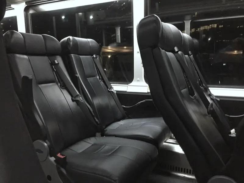 greyhound bus seats