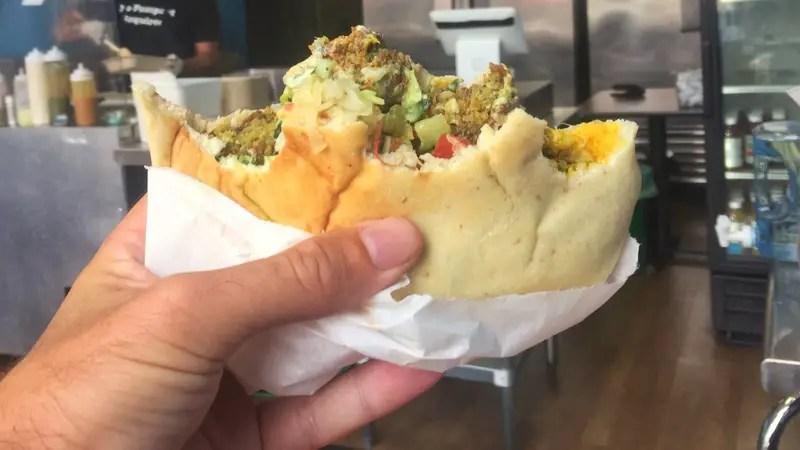 the flying falafel pita pocket