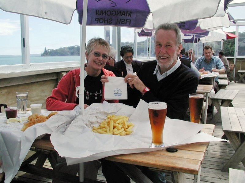 fish and chips in new zealand with two people