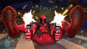 Deadpool crotch shot