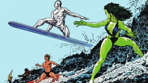 The Silver Surfer is Surfing