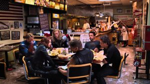 Avengers eating food