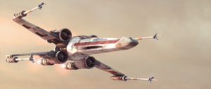 X-wing in flight