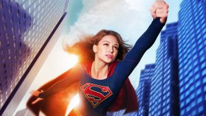supergirl in flight